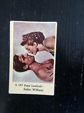 1957 VINTAGE DUTCH GUM MOVIE STAR CARD #S 187 PETER LAWFORD ESTER WILLIAMS S187