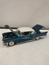 SunStar 1958 Buick Limited Riviera Coupe Colonial Blue 1/18used missing some par