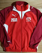 Puma FC Silheim Germany Mens Tracksuit Top Jacket Football Soccer Red White