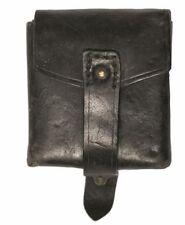 Vintage Italian army surplus leather belt worn ammunition ammo pouch