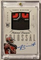 2015 National Treasures Jameis Winston Rookie Colossal 3 CLR Patch Auto RC13/15