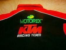 KTM RACING MOTOREX TEAM PIT CREW SHIRT MOTOCROSS MEN 2XL RARE VTG