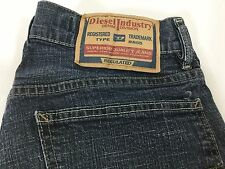 Diesel Industry RR55 Type D 30 x 27 Made in Italy Cotton Blue Denim Jeans