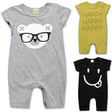 Newborn Baby Kids Boy Girl Short Sleeve Jumpsuit Romper Playsuit Outfit Clothes