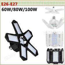 60W 100W E27 Led Garage Light Bulb Deformable Ceiling Fixture Shop Workshop Lamp