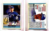 Tom Henke Signed 1992 Donruss #141 Card Toronto Blue Jays Auto Autograph