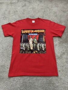 Supreme The War Report Capone N Noreaga Red T-Shirt Size Medium FW16