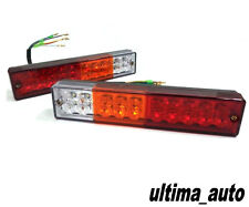 2X 12V 20 LED TRAILER TRUCK BUS VAN STOP REAR TAIL INDICATOR LIGHTS REVERSE LAMP