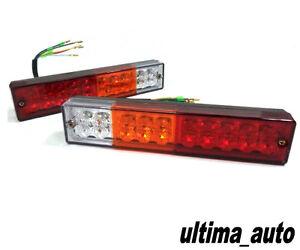 2X 12V 20 LED TRAILER TRUCK BUS VAN STOP REAR TAIL INDICATOR LIGHTS REVERSE LAMP