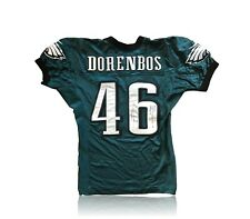 JON DORENBOS GAME USED / ISSUED PHILADELPHIA EAGLES SIGNED JERSEY AUTOGRAPH JSA