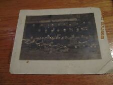 CIRCA 1912 INDEPENDENCE HIGH SCHOOL FOOTBALL TEAM PHOTO IOWA GILBERT STUDIOS B/W