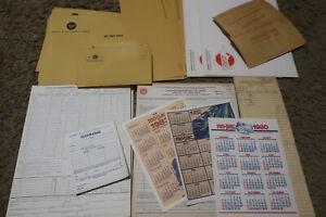 Missouri Pacific Railroad paper epherera lot forms/envelopes/calendars/ads