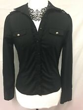 Womens Blouse. Excellent Condition. Black Size 10. Beautiful Details