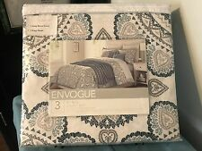 "ENVOGUE 3 Piece~100% Polyester~KING DUVET SET~106""x90"" Duvet & 2 King Shams -NIP"