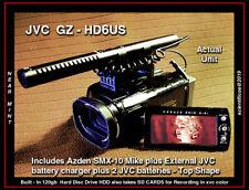 3CCD JVC GZ-HD6 FULL HD w/120GB HDD+32gb SD+2 Bat+Chgr+Pgm CD+Azden Mike+Fisheye