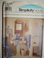Bathroom Robe Slippers Laundry Bag Turban Simplicity Crafts 8973 + UC FF Pattern