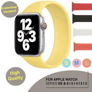 Apple Watch Silikon Sport Armband Series SE/6/5/4/3 Uhrenarmband Solo Loop Strap