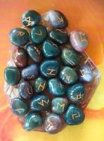 Blood Stone Rune Set Symbols Gemstone Healing Crystal Runes 25 PCS Freeshipping