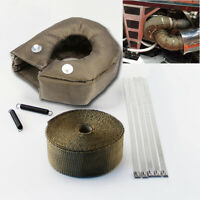 Turbo Heat Shield Blanket Cover T3 & Manifold Downpipe Wrap Stainless Steel