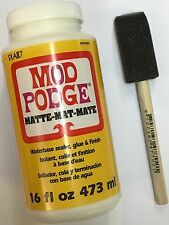 MOD Podge 16 once Opaco waterbase sigillante, colla e finitura, + Pennello Schiuma