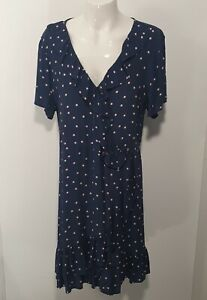 Tokito Navy Blue Flutter Workwear Dress Sz 14