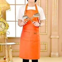 Denim Canvas Pockets Apron Butcher Crafts Baking Chefs Home Kitchen Cooking BBQ