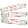 Divine Satya Nag Champa White Sage Incense Sticks - 3 Packs
