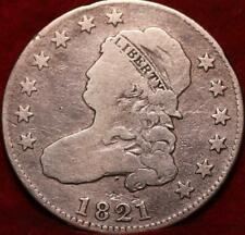 1821 Philadelphia Mint Silver Capped Bust Quarter