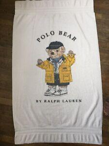 Ralph Lauren Home Polo Bear Beach Bath Towel Terry Cloth Rain Coat 34-58 Cotton