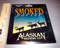 Alaska Brewing Co  Smoked Porter Peel & Stick Decal sticker, nice collectible