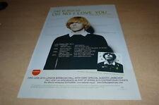 TIM BURGESS - OH NO I LOVE YOU  !!!!!!! PUBLICITE / ADVERT !!! UK !!!