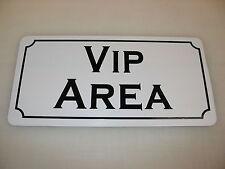VIP AREA Metal Sign Dance Club Bar Game Room Pool Hall Table Golf Event Poker