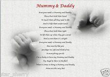 MUMMY & DADDY GIFT - personalised keepsake poem