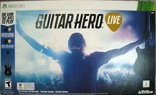 NEW Microsoft XBOX 360 Guitar Hero Live Bundle 2015 Factory Sealed Mint NIB
