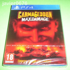 CARMAGEDDON MAX DAMAGE NUEVO Y PRECINTADO PAL ESPAÑA PLAYSTATION 4 PS4