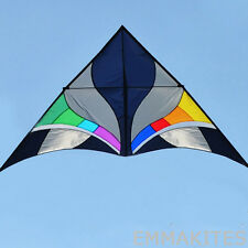 9ft Fantasy Rainbow Tulips Single Line Delta Kite Easy to Fly for Beginners Fun