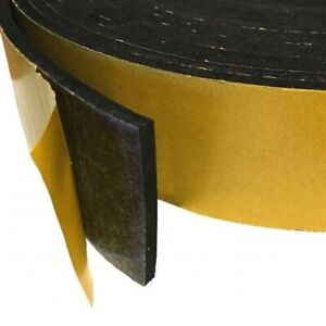 Rubber Strip - Adhesive Backed Roll - Various Widths, Thicknesses & Lengths
