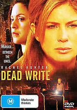 DEAD WRITE - DVD - 2007 Rachel Hunter MYSTERY THRILLER MOVIE - RARE ! Region 4
