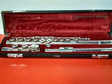 YAMAHA YFL211S SILVER PLATED FLUTE JAPAN WITH HARD COVER BLACK CASE SUPERB PIECE