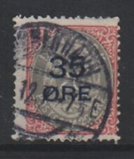 Denmark - 1912, 35 ore on 20 ore Grey & Carmine stamp - Used - SG 132