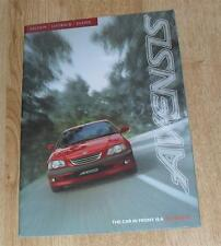 Toyota Avensis Brochure 1997 - S GS GLS CDX 1.6 1.8 2.0 2.0 TD
