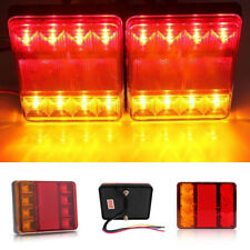 2X Waterproof Trailer Truck 8LED Taillight Brake Stop Turn Signal Light Lamp New