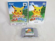 Nintendo 64 PIKACHU GENKIDE CHU Genki De Pokemon Import JAPAN Video Game n64