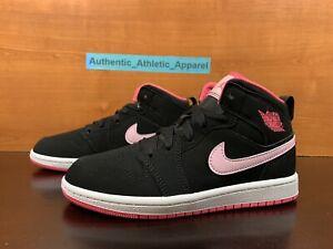 Nike Air Jordan 1 Mid (PS) Retro Black Digital Pink Size 13C Sneakers 640737-066