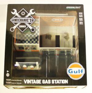 GreenLight GREEN MACHINE Mechanic's Corner Vintage Gas Station Gulf Oil S1 CHASE