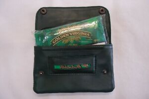 Soft Leather Tobacco Pouch Organizer with Space for Money and keys Dark Green