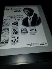 James Cleveland Arista Records Rare Original Promo Poster Ad Framed!