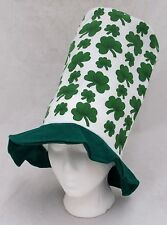 St Patricks Day Tall Stovepipe Lucky Hat Irish Shamrock Green Adult One Size New