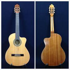 M Rosales 10CEQN Solid Top,Nylon String Classical Guitar w/EQ,Truss Rod+Free Bag