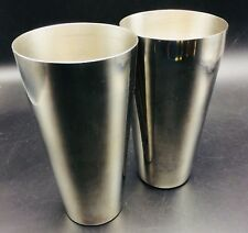 New listing 2 Stainless Steel Cocktail Mixer Shaker Bases Glasses 7� Tall Unbranded 1 Usa
